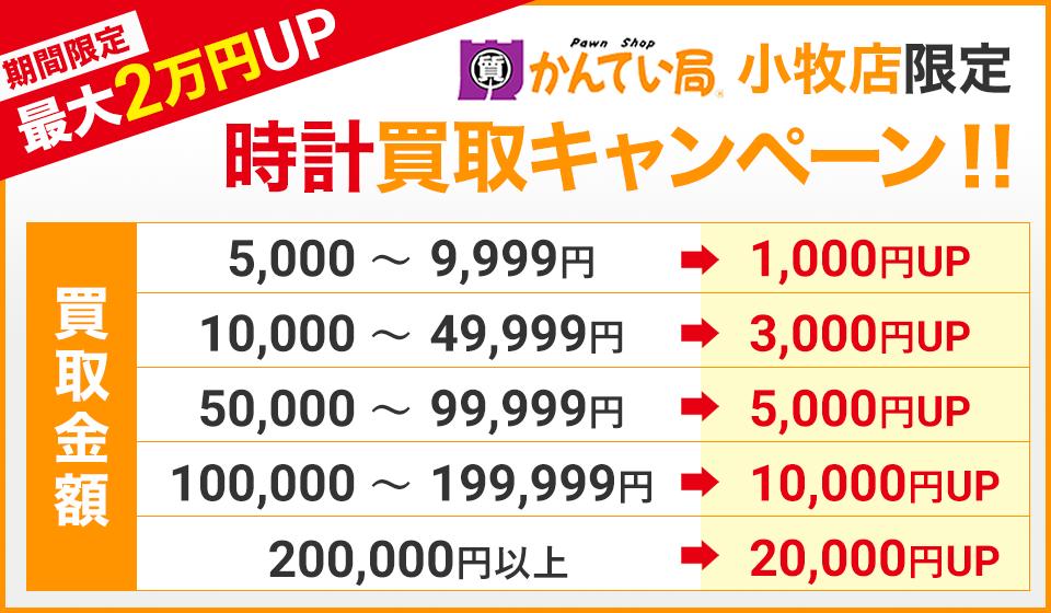 最大買取価格20,000円UP